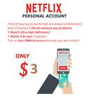 Netflix 30 Days Ultra HD 100% Warranty  4 screen