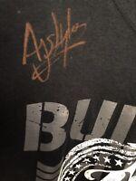 Rare SIGNED AJ Styles Bullet Club Shirt WWE NJPW ROH AEW TNA