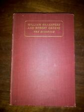 William Shakspere Shakespeare Robert Greene Evidence William Chapman 1st Ed 1912