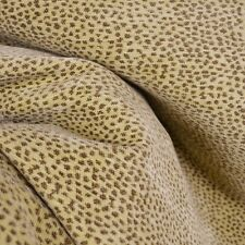 Leopard Cheetah Chenille Upholstery Fabric Siamese Reversible