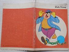 Vecchio quaderno scolastico di scuola GALLERIA DI WALT DISNEY GAMBA DI LEGNO