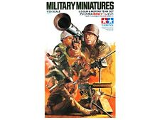 Tamiya 35086 1/35 Scale Military Model Kit WWII US Army Gun & Mortar Team Set
