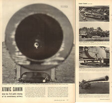 "1952 vintage Korean War era article  Army's New 11"" ATOMIC CANNON 3 pgs  071618"