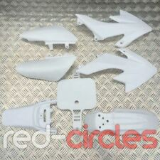 WHITE CRF50 PIT BIKE PLASTIC SET (NO SEAT) fits 50cc 110cc 125cc PITBIKES