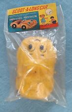 VINTAGE - YELLOW SCOOT-A-LONG CAR - UNBREAKABLE POLYETHYLENE - ORIGINAL PACKAGE