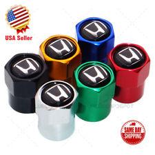 Universal Hex Black H Logo Car Wheels Tire Air Valve Cap Stem Dust Cover Sport