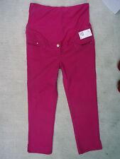 Straight Leg Maternity Cotton Blend Trousers