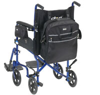 Drive Wheelchair Mobility Bag Set Small Armrest Pannier Bag Large Backpack Bag