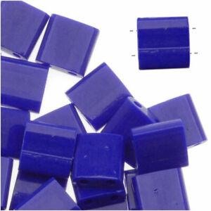 Miyuki Tila 2 Hole Square Beads 5mm 'Opaque Cobalt' 7.2 Grams