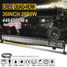 10D 36Inch 2880W CREE Led Spot Flood Combo Work Quad Rows Light Bar VS 7D+ 3ROW