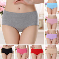 Womens Cotton Stretchy Underwear Panties Briefs Knickers Underpants Plus Size