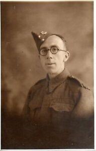 BRITISH SOLDIER IN WALTHAMSTOW 1940 WW2 MILITARY POSTCARD