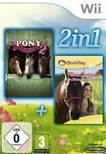 Nintendo Wii + Wii U Cavallo e Pony Il mio unascuderiailfieno incl Pony Friends 2 come nuovo