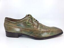CALZOLERIA HARRIS Barneys New York Brown Green Leather Oxford Shoes Sz 11, US 12