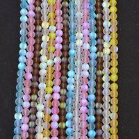Mystic Aura Quartz Gemstone Loose Beads Holographic Quartz DIY Bracelets Gift