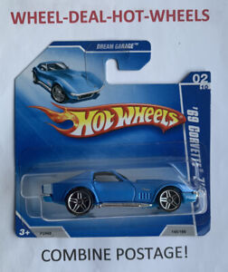 HOT WHEELS 2009 DREAM GARAGE '69 CORVETTE ZL-1 RARE SHORT CARD MOC!