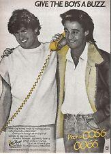 GEORGE MICHAEL / WHAM 'Chart Call' UK magazine ADVERT / mini Poster 11x8 inches