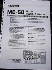Bedienungsanleitung BOSS ME-50