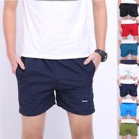 Men Summer Beach Cotton Casual Gym Sports Surfing Running Shorts Pants