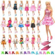 More details for 60pcs barbie doll dresses clothes accessories including 20 high quality dresses