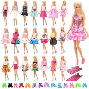 60pcs Barbie Doll Dresses Clothes Accessories INCLUDING 20 HIGH QUALITY DRESSES