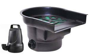 2100 GPH Pond Pump and Waterfall with 17 inch Spillway Combo Kit