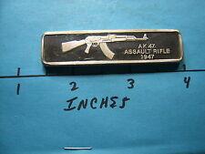 AK47 ASSAULT RIFLE SOVIET 1947 GUN SILVER BAR LINCOLN MINT FAMOUS WEAPONS WORLD