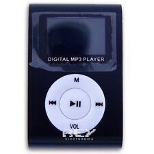 Reproductor MP3 CLIP Pantalla LCD RADIO FM 1GB 2GB 4GB 8GB NEGRO d48