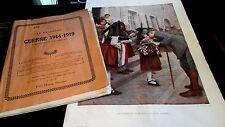 spéciale:GUERRE 14-18 42pages + M.PETAIN Alsace libérée poster33X50 rare