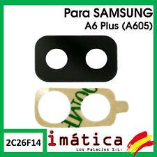 CRISTAL CAMARA LENTE PARA SAMSUNG GALAXY A6 PLUS + A605 ADHESIVO TRASERA TRASERO
