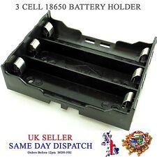 Hágalo usted mismo 18650 de 3 Celdas Li-Po Batería Soporte de plástico 3.7V Funda de montaje de PCB Batt 3.6V Caja