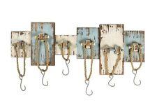 Appendiabiti appendino  in legno di colore azzurro e bianco con corde nautico