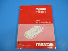 1995 Mazda Millenia Service Highlights Manual Fuel & Emissions Steering System