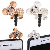 Cute Koala Design Earphone Dust Plug  Phone Accessories For 3.5mm EarphoneBLUS