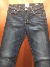 $250 NWT Dylan George Aurelia Mid Rise Straight Leg Jeans Made in USA 24 25