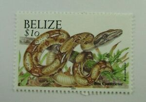 2003 Belize SC #1130a  BOA CONSTRICTOR  MNH $10 stamp