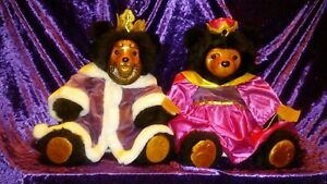 ROBERT RAIKES Royal Court King William & Queen Mary- Hand Carved Bears VINTAGE