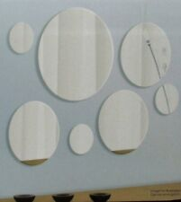 NOVELTY BATHROOM HALLWAY OVERMENTAL 7PC ROUND WALL MIRRORS