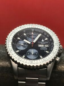 Chase-Durer Combat Command Blue Swiss Valjoux 7750 Automatic Stainless Steel