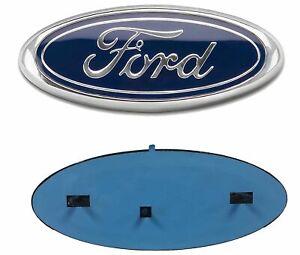 "2004-2016 Ford F-150 Chrome Oval Blue Logo 9"" x 3.5"" Emblem Grille/Tailgate"