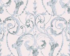 Vliestapete Barock rosa blau Tapete livingwalls Flock 4 95691-2 956912 (2,92€/1q