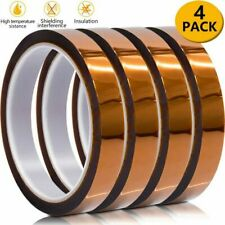 New listing 4 Rolls 10mm X 30m High Temperature Heat Resistant Kapton Polyimide Tape - Usps