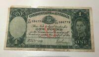 1941-48 Australia 1 One Pound - Armitage & McFarlane - World Banknote Currency