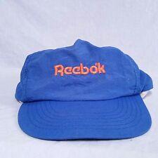VTG Reebok Snapback Hat 80's Spell Out Cap Pump Shaq Iverson 90's Classic Blue