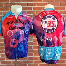 Pan Mass Challenge PMC 2014 Full Zip Short Sleeve Mens 2XL Cycling Jersey EUC