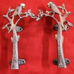 Brass Door Handle Parrot With Tree Design Antique Style Door Pull Home Deco WG27