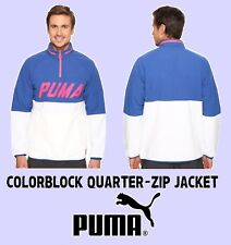 PUMA VINTAGE STYLE COLORBLOCK QUARTER-ZIP JACKET Men's XXL (2XL) New with Tags