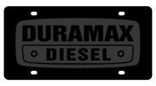 New Chevrolet Duramax Diesel Black Word on Black Stainless Steel License Plate