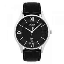 Hugo Boss Governor klassische Herrenuhr 1513485 Lederband schwarz