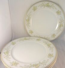 MIKASA GREENBRIAR Pattern DINNER PLATES (Set of 4) L2014 Yellow Flowers